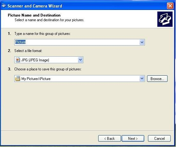 Scan with the Scanner and Camera Wizard - Windows XP, Vista
