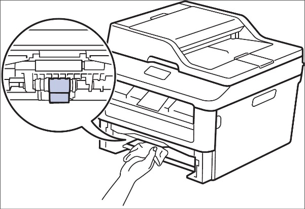 the printer is double feeding or feeding multiple sheets of paper at Dell Optiplex 380 image