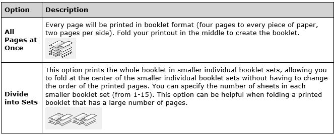 how do i print a booklet in windows